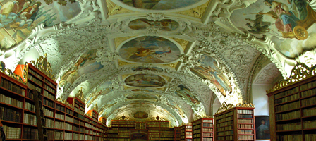 Library at Strahov Monastery, Prague, Czech Republic